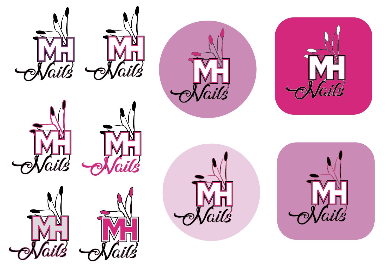 MH Nails - Logo Design