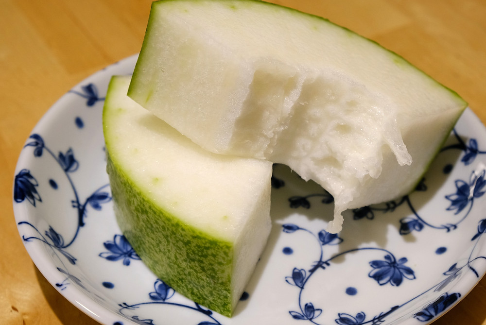 two slices of wax gourd