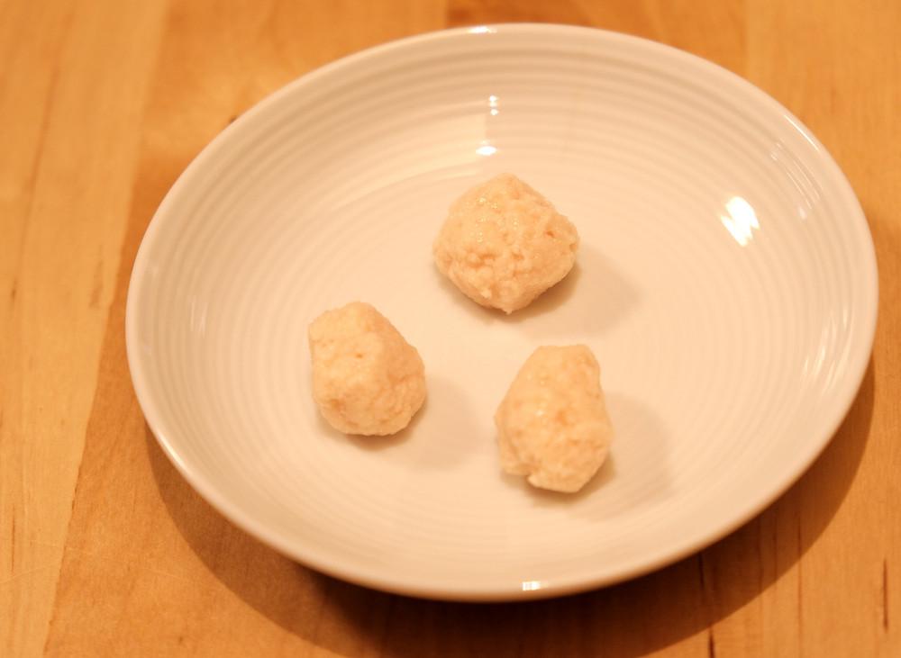 three tiny meat balls