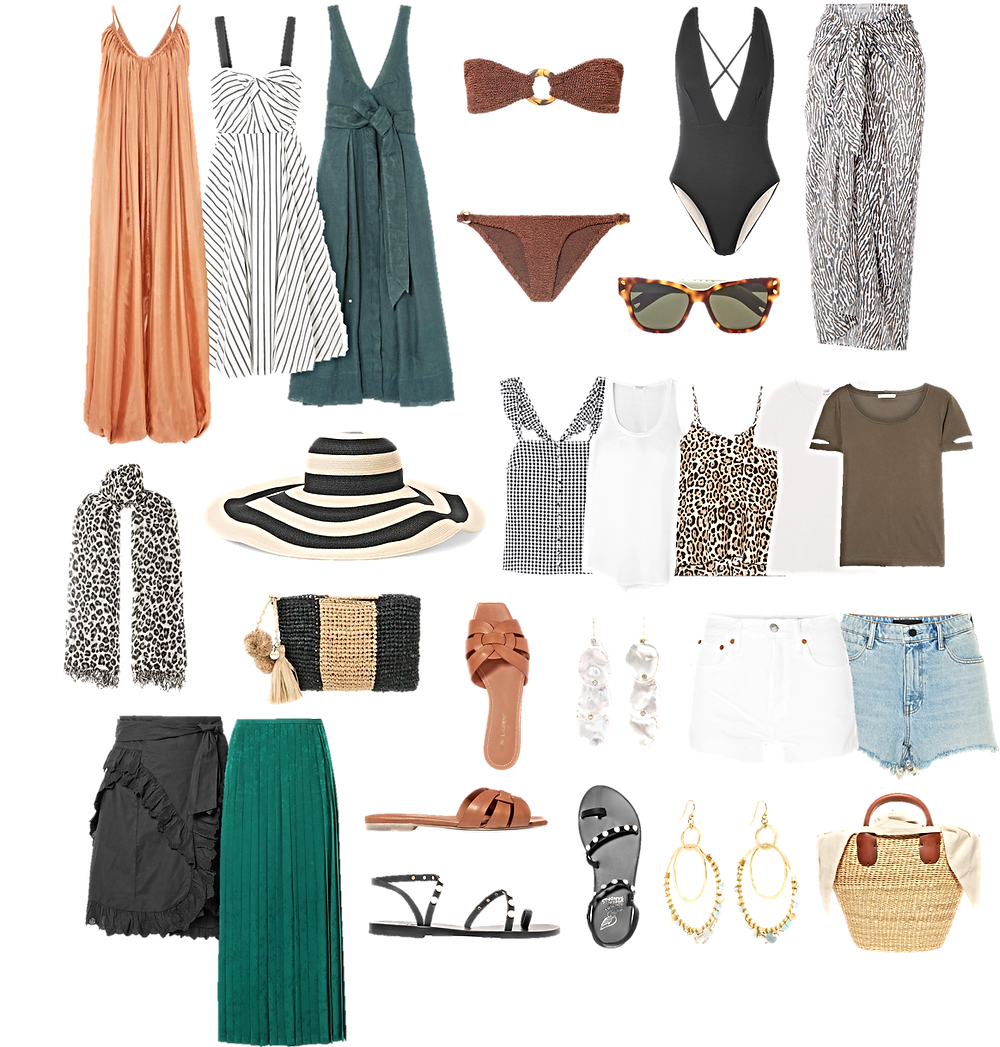 Capsule holiday wardrobe Packing Hacks Personal stylist london