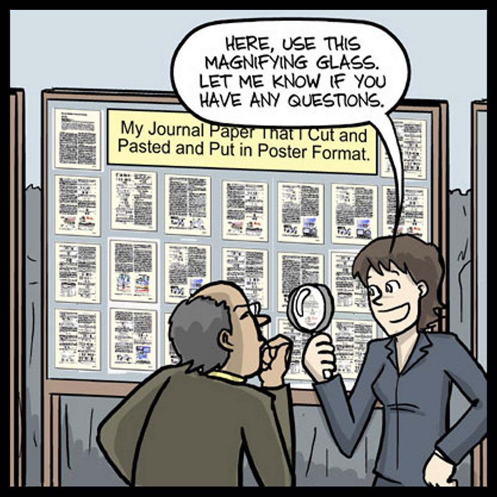 scientific poster meme PhD Comics