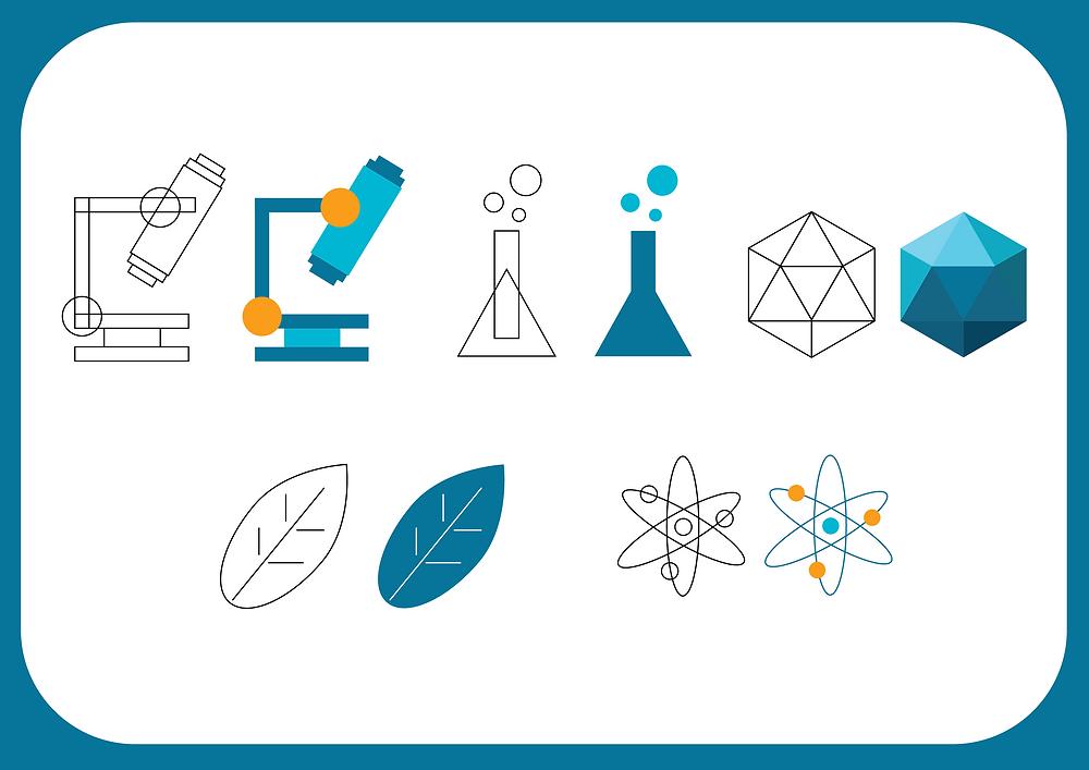 scientific illustration icons