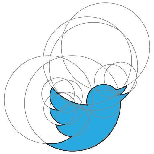 twitter bird illustration shapes