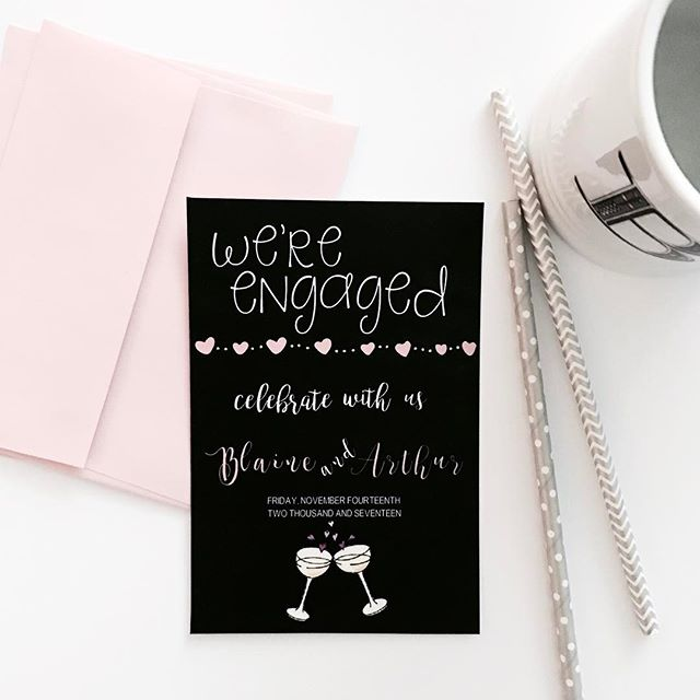Share your special news in style! #engaged #weddingstationery #simplybeautiful