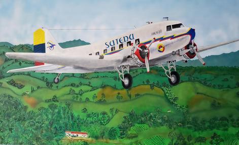 DC3 Colombia Acrylic 4' X 2.5'