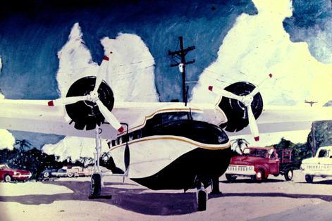 Chalks Sea Plane Acrylic 4' x 2.5'