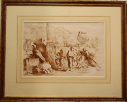 Francesco Bartolozzi - Tobit Burying the