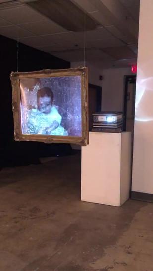 THE PHYSICAL RECOLLECTION  Acetate, digital projection, monofilament, & frame 2018