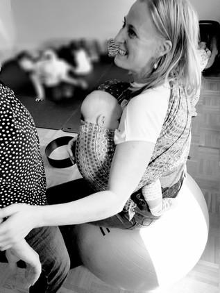 portare caterina e salutare un futuro bebe