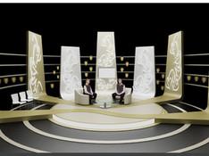 Dini temali sohbet program dekoru
