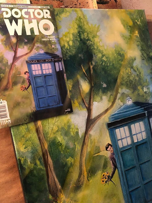 Original Oil Painting for Titans Doctor Who Eleventh Doctor Comic