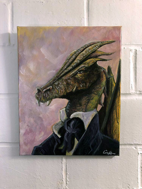 """Dapper Dragon"" Original Oil"