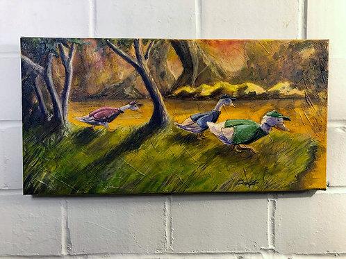 """Duck Tails"" Original Oil"