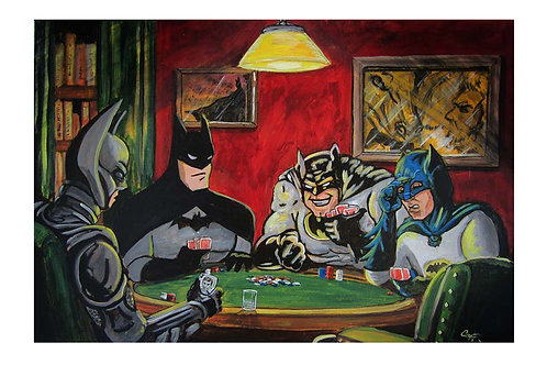 Batmen Playing Poker