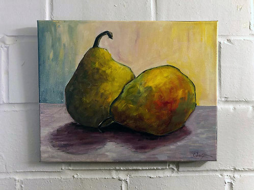 """""""Pears"""" Original Oil"""