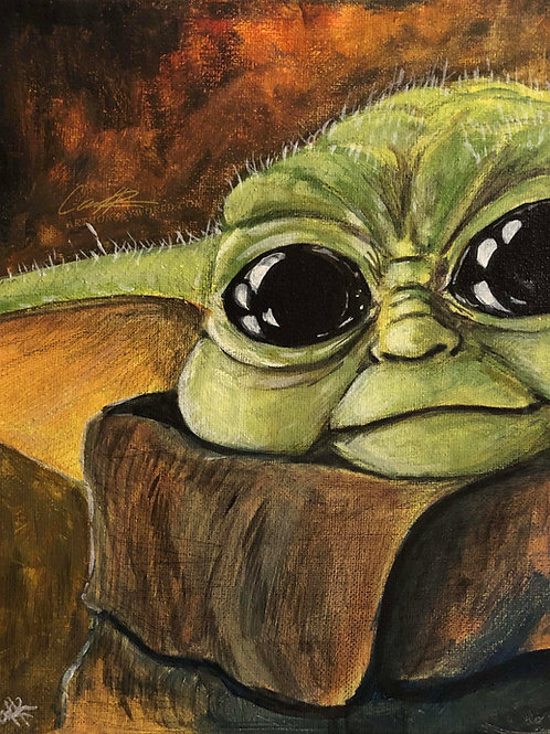 Baby Yoda Eyes Color Study