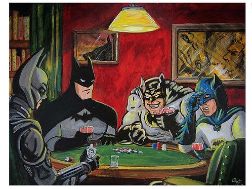 Batmen Playing Poker