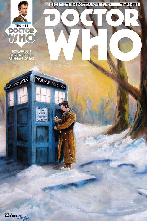 Doctor Who: New Adventures with the Tenth Doctor, Year Three #11 (Carr Cover)