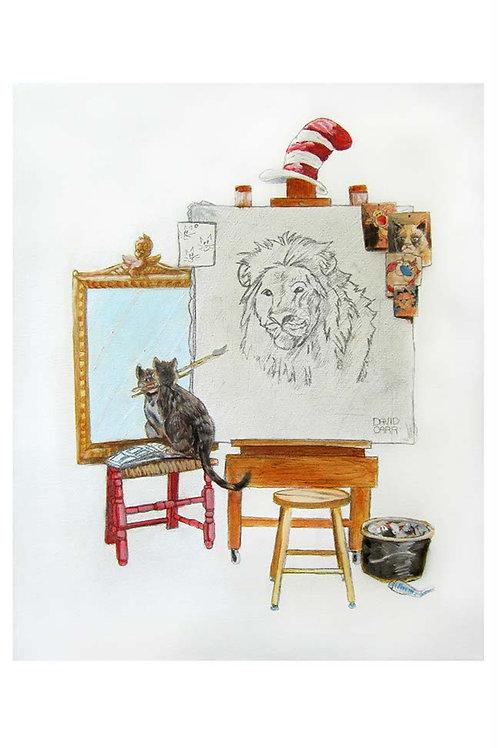 Triple Self Kitty Portrait