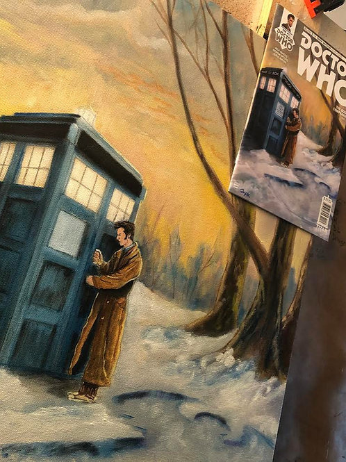 Original Oil Painting for Titans Doctor Who Tenth Doctor Comic