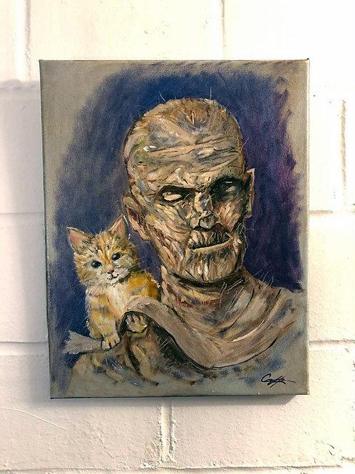 """Kitty Mummy"" Original Oil"