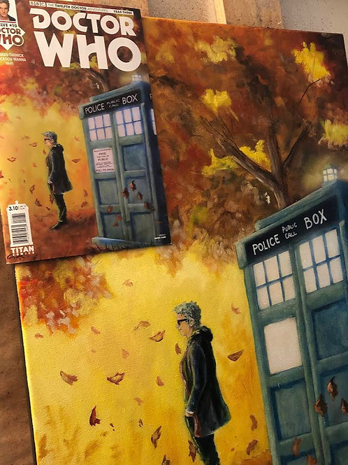 Original Oil Painting for Titans Doctor Who Twelveth Doctor Comic