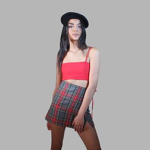 Sarah Wrap Skirt - Cherry