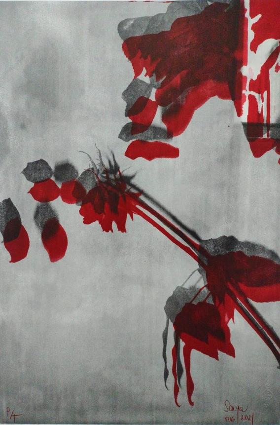 """""""Love"""" Sonya Fichte Zincografía 68.5 cm x 48 cm Disponible / Available"""