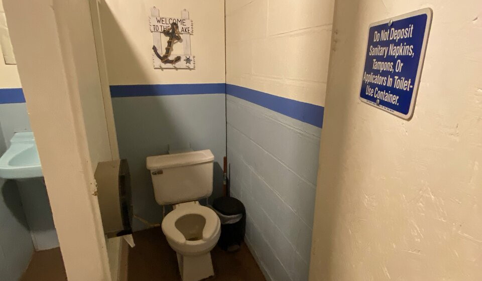 toilet in showerhouse