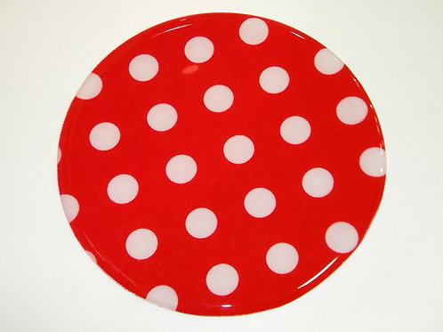 Red and White Dots - 161