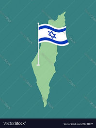 israel-flag-and-map-israeli-banner-ribbo