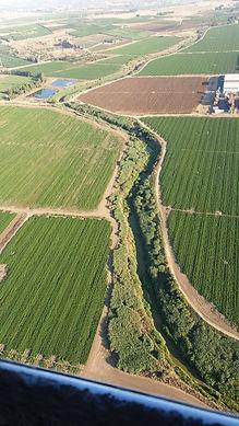 צילום אווירי חלקאות באזור פלמחים - אורן