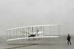 First powered airplane flight...