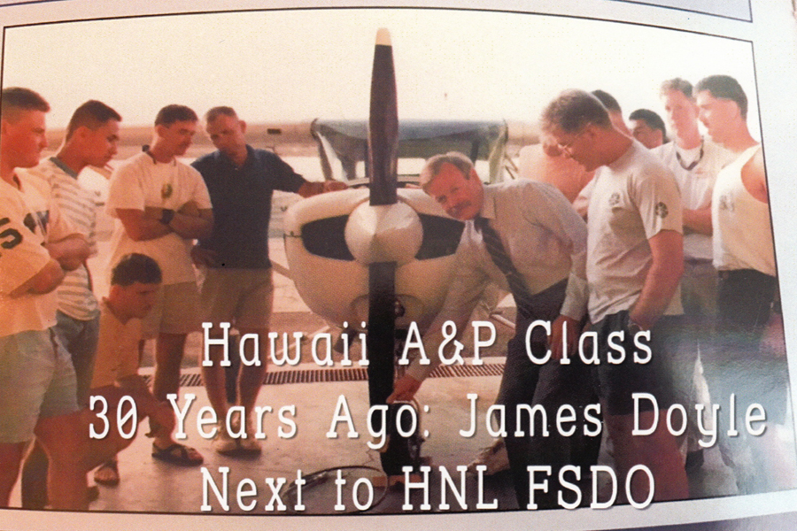Hawaii A&P class in 1988