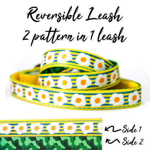 REVERSIBLE Leash – Egg and Bacon