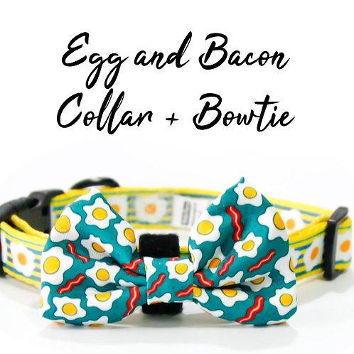 Collar + Bow – Egg and Bacon
