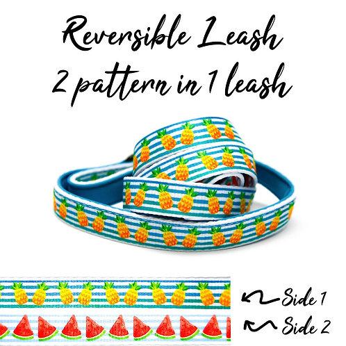 REVERSIBLE Leash – Pineapple / Watermelon Fruit
