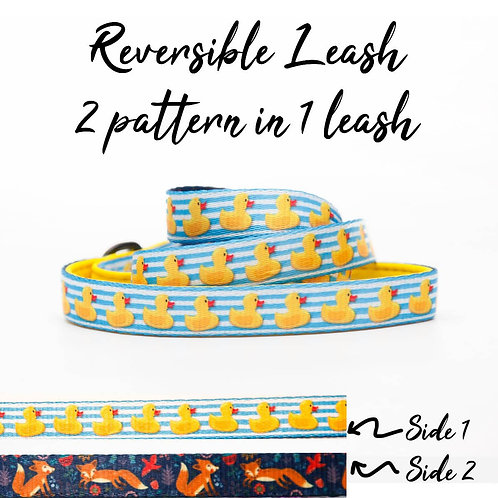 REVERSIBLE Leash – Rubber Duck + Fox