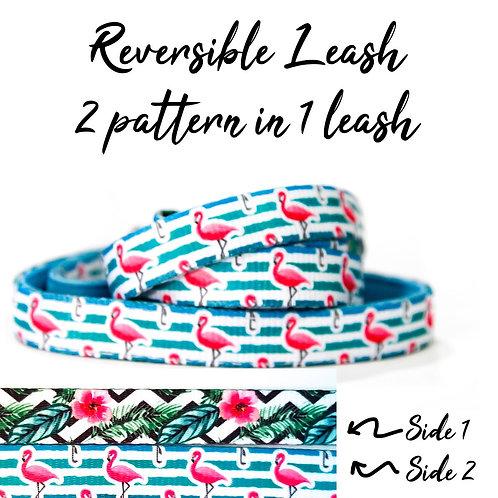 REVERSIBLE Leash – Flamingo Paradise