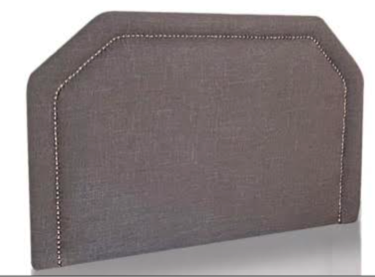 Grey with silver nailhead trim