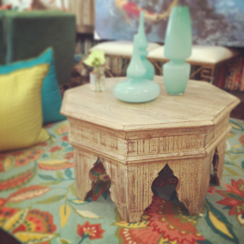 Washed Octagonal Coffee Table