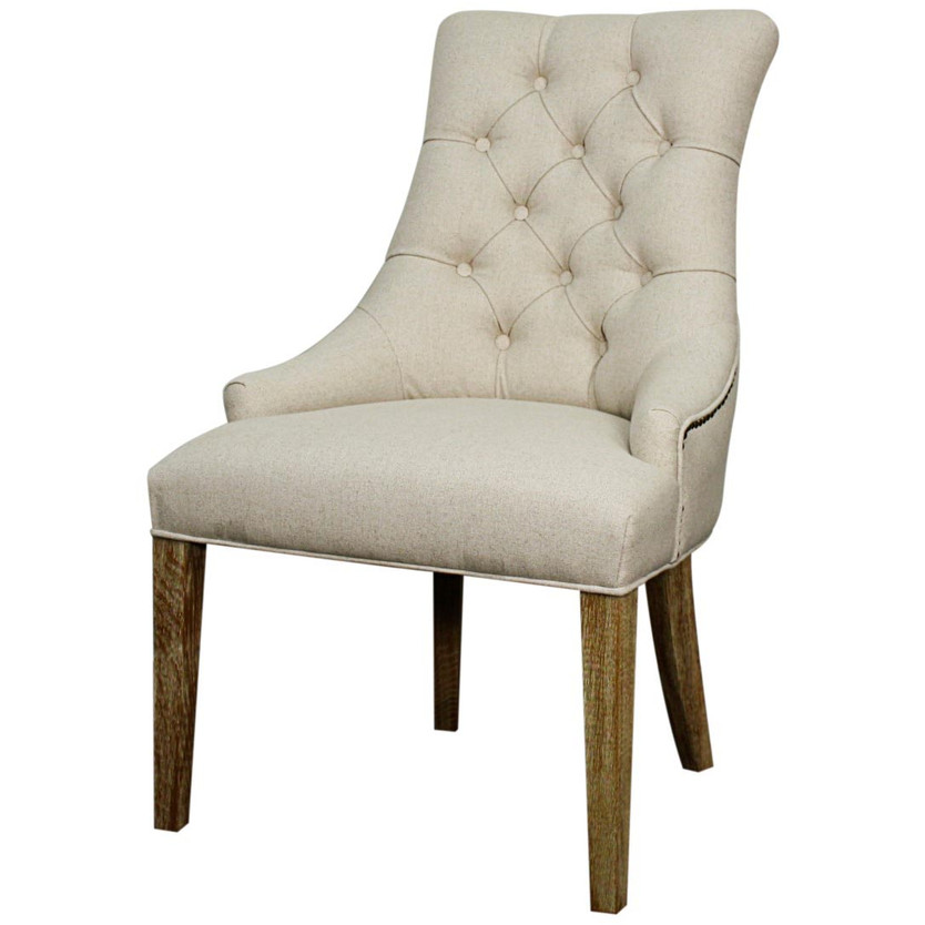 Laurel Dining Chair in Light Sand + Driftwood