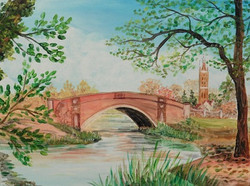 Friederikenbrücke im Wörlitzer  Park
