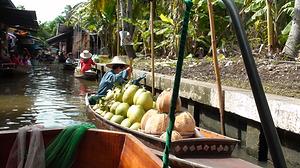 marché flottant bangkok - organiser voyage thailande