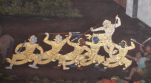 fresque grand palais - organisateur voyage thailande