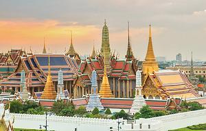 vue du grand palais bangkok - thailande vacance