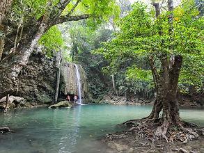 cascades d'erawan - thailande vacance