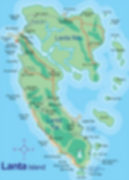 carte koh lanta - organiser voyage thailande
