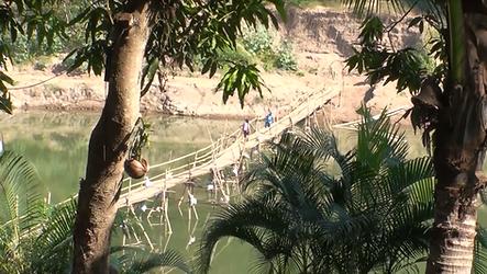 pont de bambous luang prabang - thailande vacance