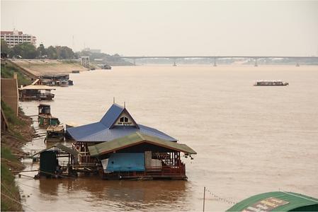 restaurant flottant nong khai - thailande vacance